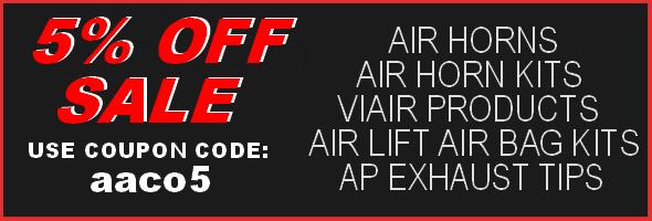 5% OFF Air Horns
