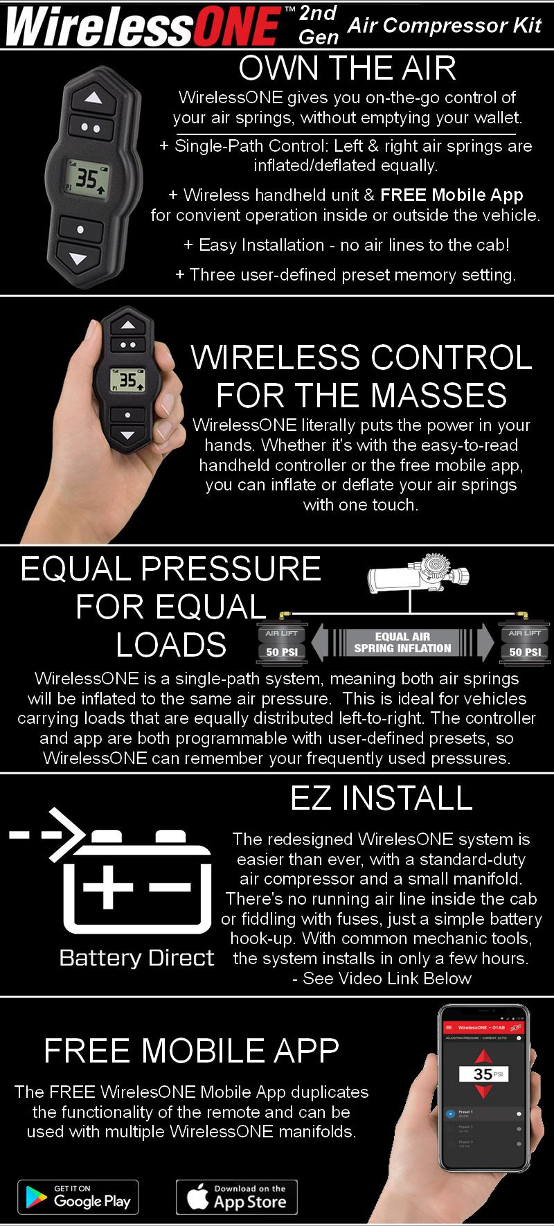 Air Lift WirelessONE kit