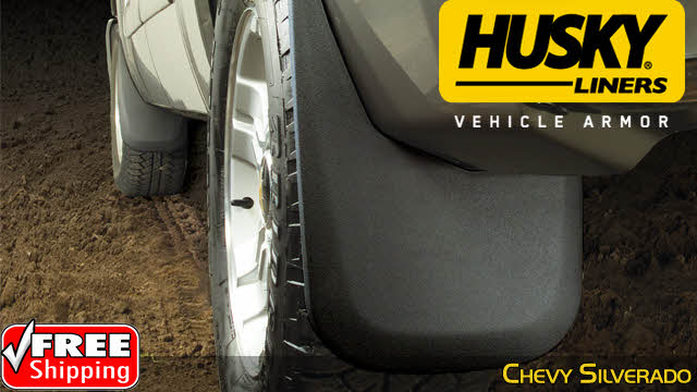 HUSKY Mud Guards Flaps for 07-13 TOYOTA TUNDRA Pair FRONT Splash Guard 56911