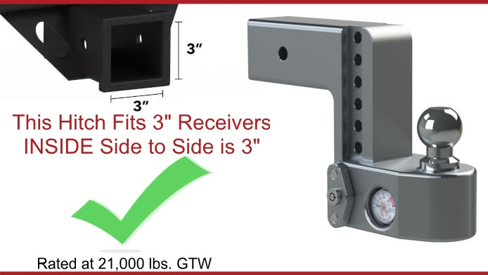 Weigh Safe Hitch for 3 inch receivers