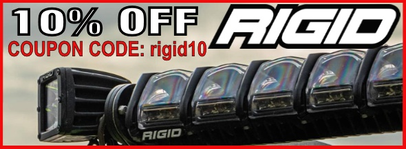 Coupon for Rigid Industries LED Lights