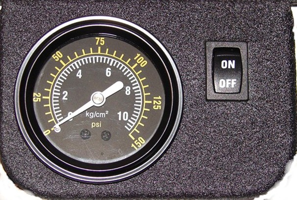 Interior PSI Gauge On/Off Switch